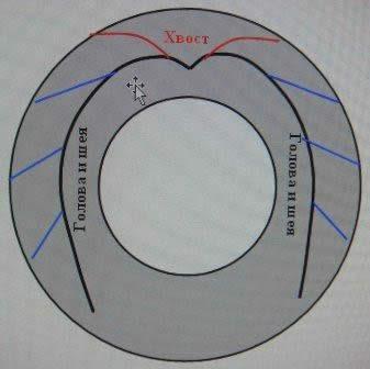 Схема изготовления лебедя из автомобильной шины