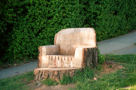 Кресло из пня