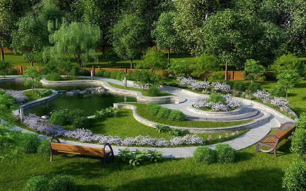 Идеи для ландшафтного дизайна участка