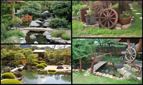 Примеры японского и деревенского стиля ландшафтного дизайна