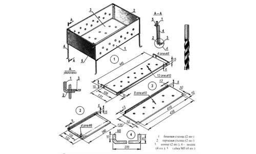 Схема сооружения мангала
