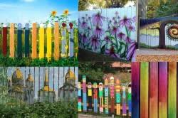 Варианты окраски и росписи деревянных заборов