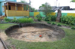 Место установки бассейна
