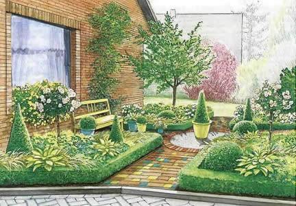 План палисадника возле дома