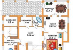 План дома, где учтены противопожарные требования