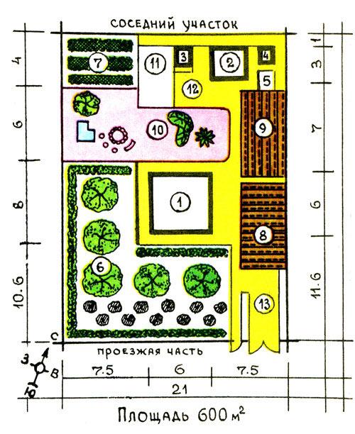 План участка 6 соток