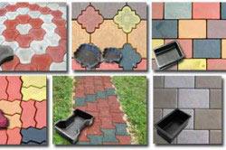 Варианты пластиковых форм для тротуарной плитки