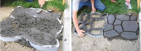 Как сделать бетонную дорожку в саду своими руками 87