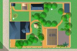 Схема планировки садовой зоны