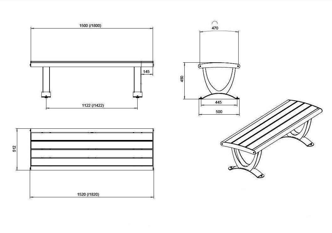Скамейки металлические для дачи своими руками чертежи фото
