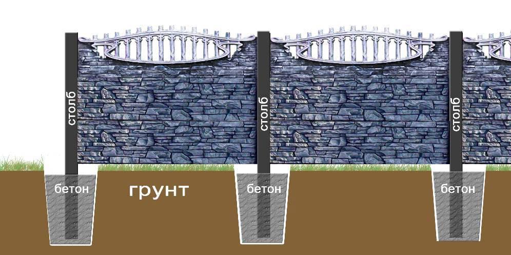 Бутовый забор своими руками 516