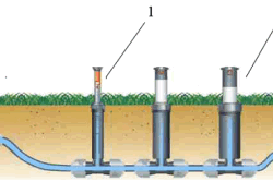 Схема прокладки системы полива