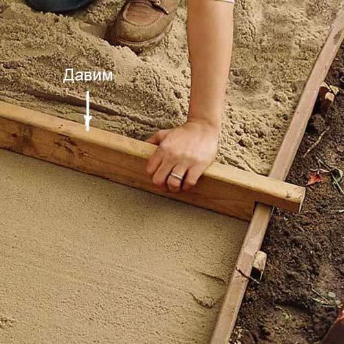 Как сделать бетонную садовую дорожку своими руками