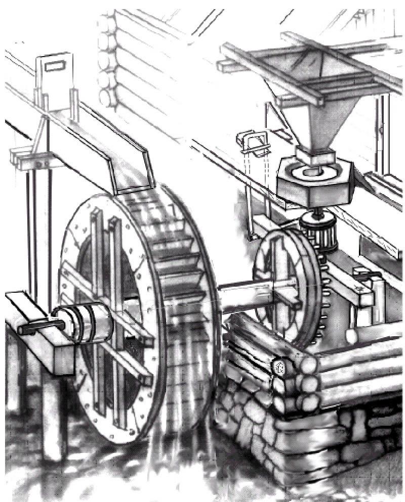 Водяная мельница своими руками чертежи