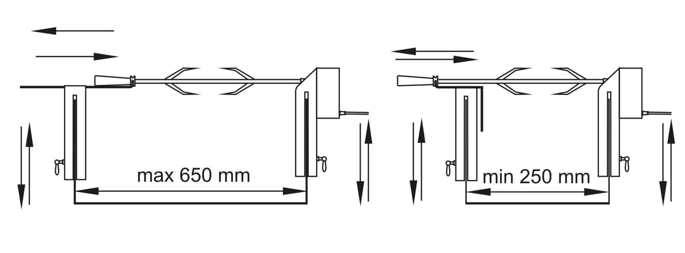 Схема размеров вертела.