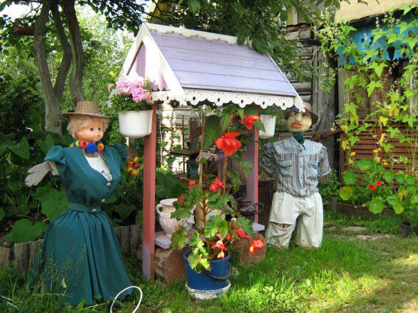 Украшения в сад для дачи своими руками