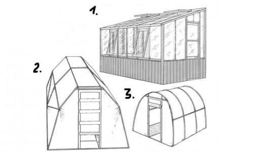 Варианты конструкции теплицы