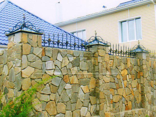 Каменный забор своими руками фото 721