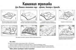 Схема изготовления дорожки по трафарету