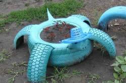 Черепаха-клумба