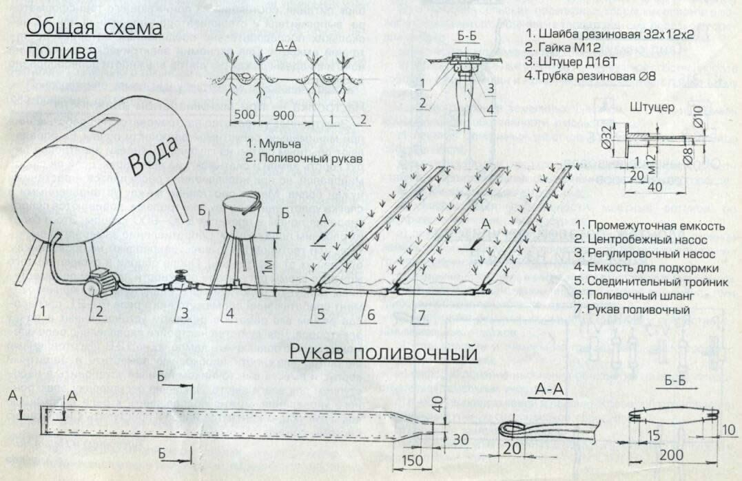 Общая схема капельного полива