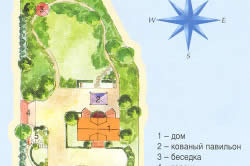 План ландшафтного дизайна приусадебного участка