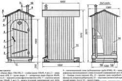 Схема строительства деревянной будки туалета