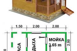 Схема-проект баня с террасой