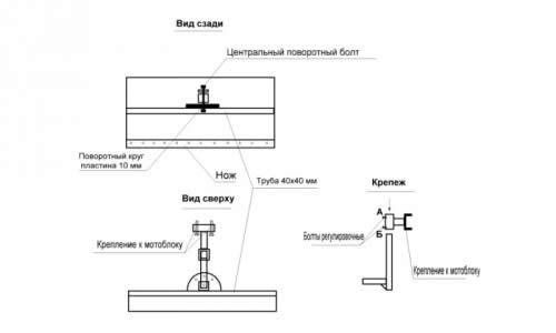 Схема самодельного мотоблока
