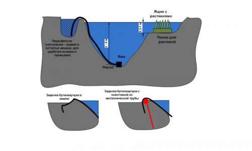 Схема зарыбления искусственного водоема