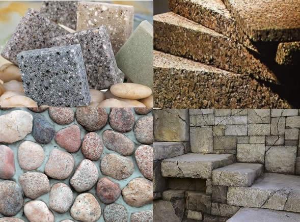 Виды декоративного камня: агломерат, акриловый камень, керамогранит, искусственный бетонный камень
