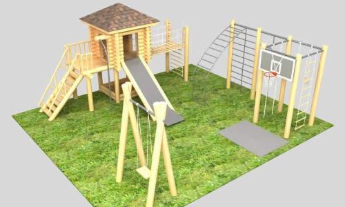 Детский спортивный комплекс из дерева своими руками