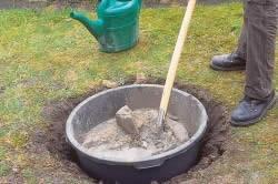 Смесь для получения формы бетонного фонтана