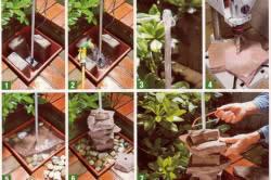 Этапы монтажа фонтана – источника