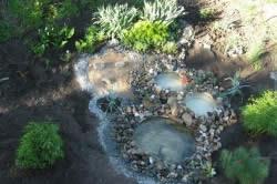 Украшение пруда камнями