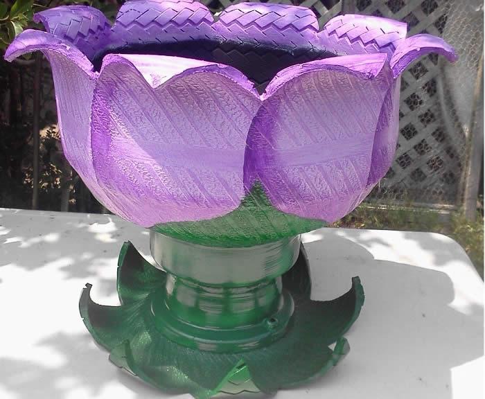 Как сделать вазон из покрышек фото 900