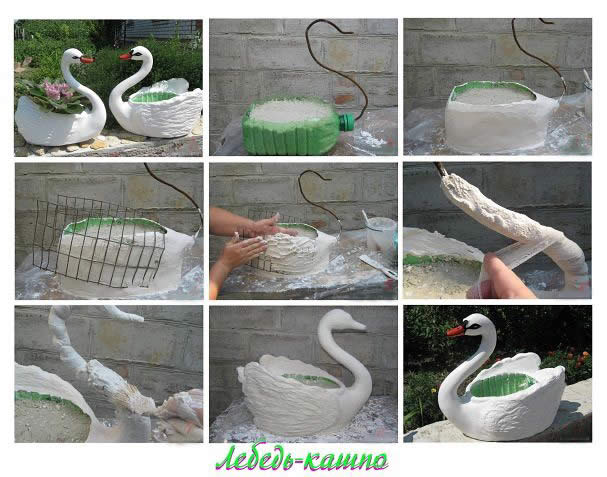 Как сделать лебедей своими руками фото