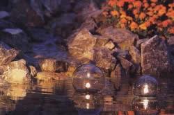 Освещение дачного водоема