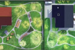 Схема расположения дорожки приусадебного участка