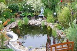 Расположение декоративного бассейна