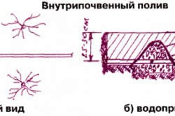 Схема внутрипочвенного полива