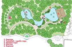 Планировка японского сада