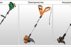 Типы триммеров для стрижки газона