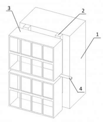 Принципиальная схема устройства вертикального сада по модульной технологии.