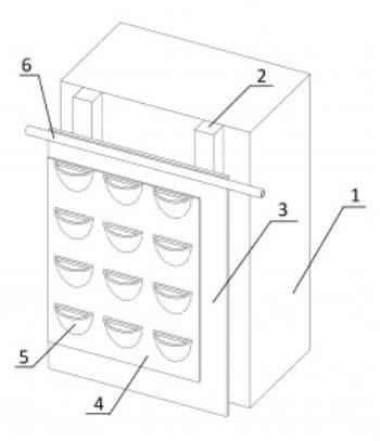 Принципиальная схема устройства вертикального сада по «ковровой» технологи.