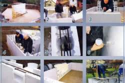 Установка бассейна из блоков пенополистирола