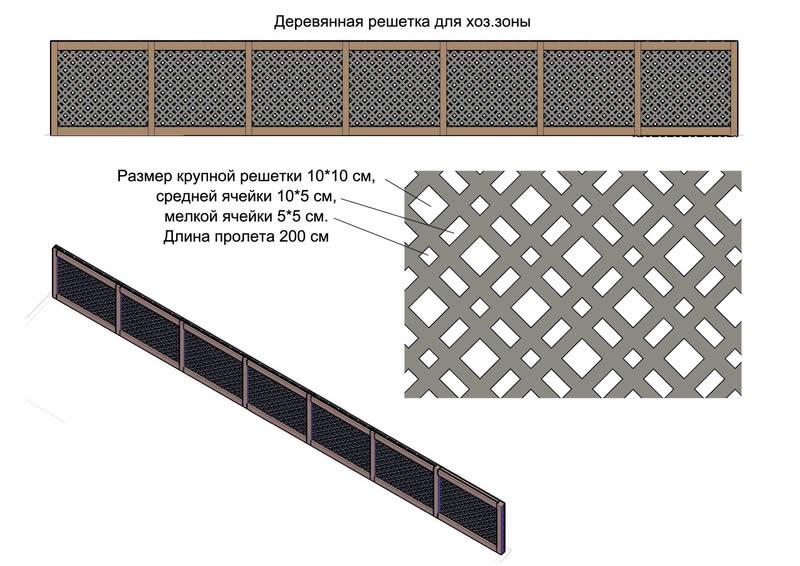 Схема деревянной шпалеры для